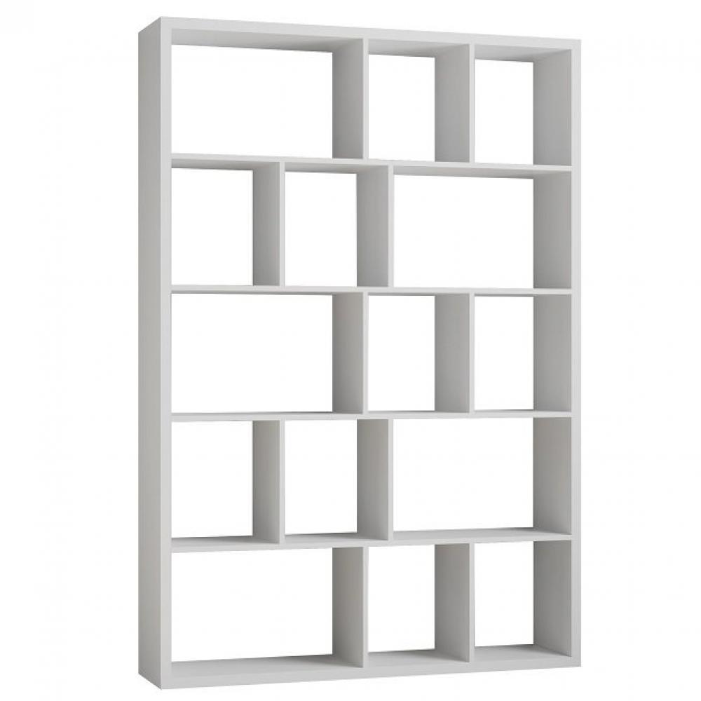 Bibliothèque design RUBY blanc mat largeur 150 cm