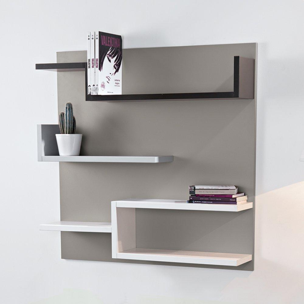 biblioth ques tag res meubles et rangements biblioth que murale design myshelf fond gris. Black Bedroom Furniture Sets. Home Design Ideas