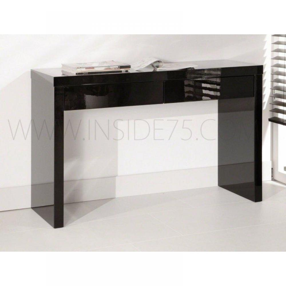 console design ultra tendance au meilleur prix black console design laqu e noir brillant 2. Black Bedroom Furniture Sets. Home Design Ideas