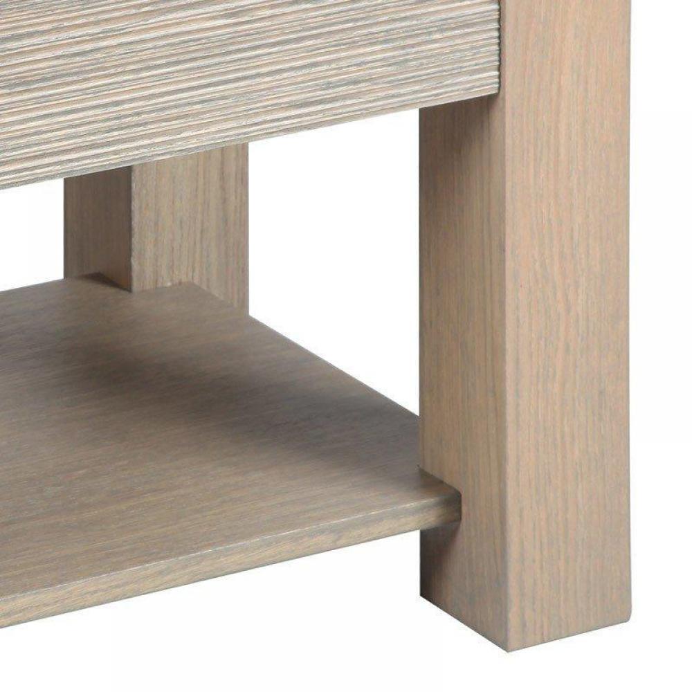 Bouts de canapes tables et chaises bout de canap hans 70 x 45 cm en ch ne massif gris taupe - Bout de canape chene ...