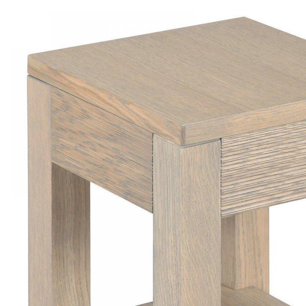 Bouts de canapes tables et chaises bout de canap hans en ch ne massif gris taupe inside75 - Bout de canape chene ...