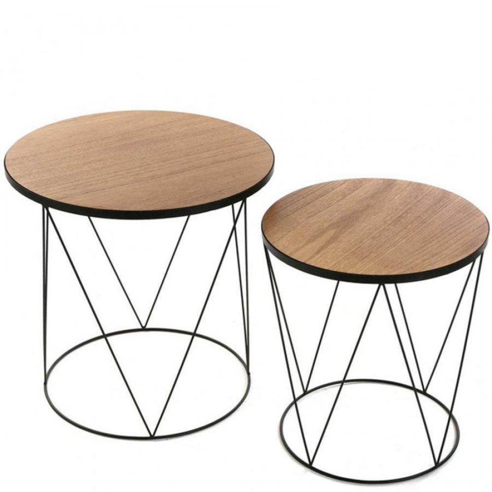 Bouts de canapes tables et chaises lot de 2 bouts de - Bout de canape bois et fer forge ...