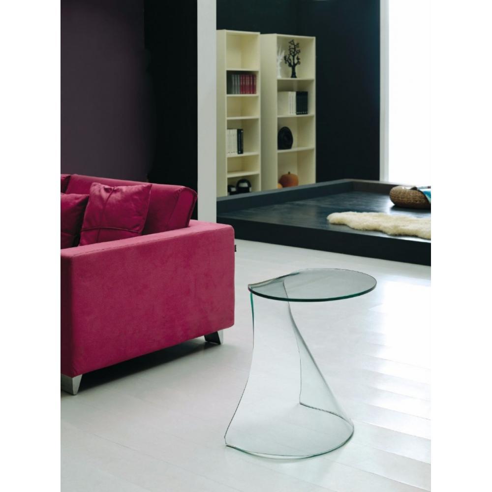 bouts de canapes meubles et rangements bout de canap iris en verre courb inside75. Black Bedroom Furniture Sets. Home Design Ideas