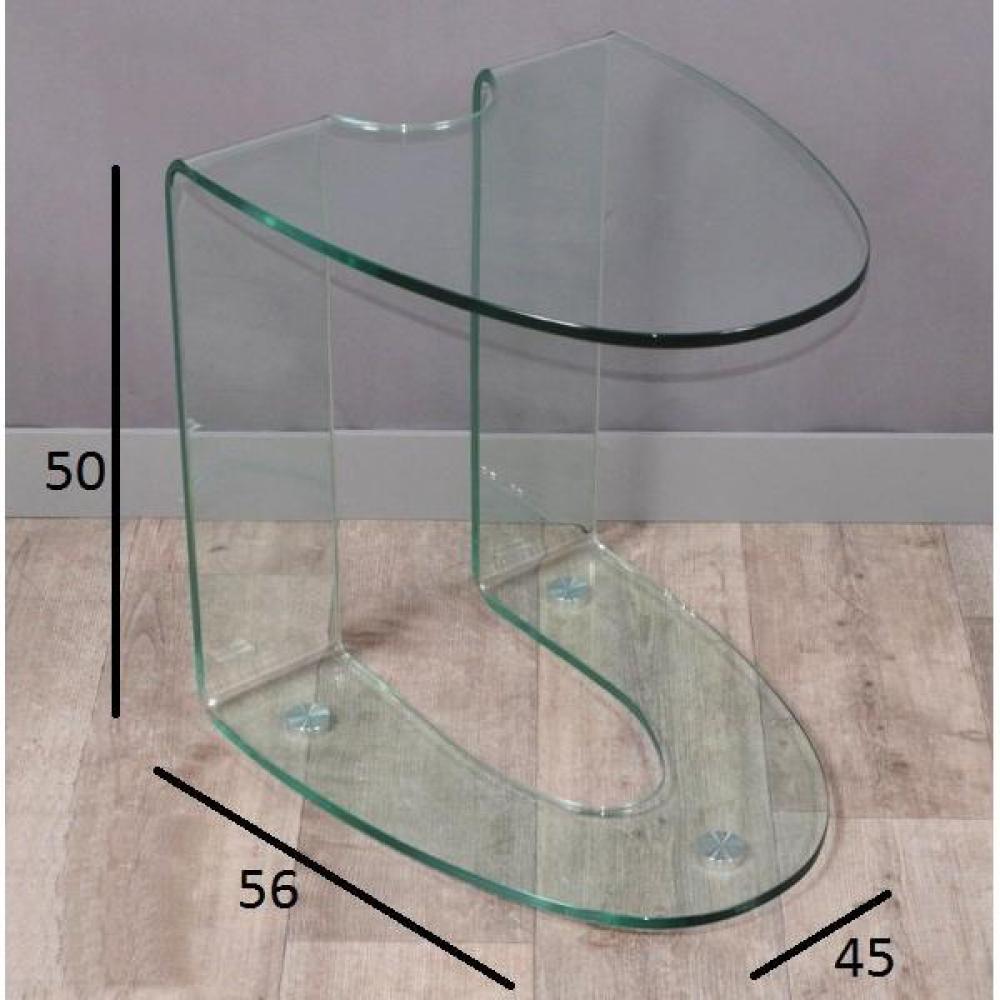 Chaises meubles et rangements bout de canap isis en - Bout de canape en verre ...