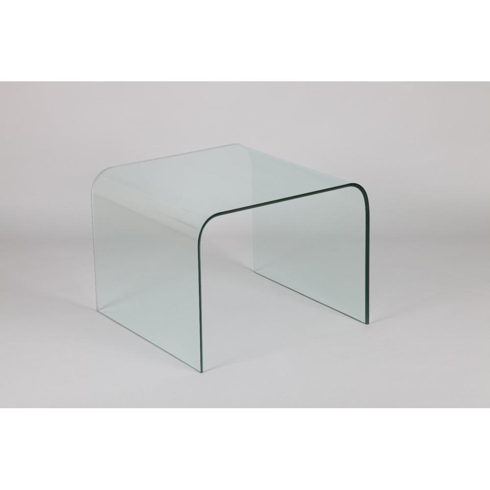 bouts de canapes tables et chaises bout de canap carr cristalline en verre inside75. Black Bedroom Furniture Sets. Home Design Ideas