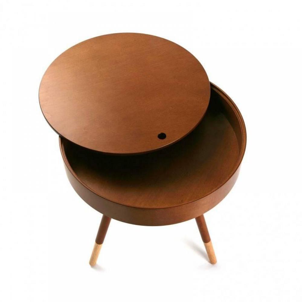 bouts de canapes meubles et rangements bout de canap rond coffre de rangement walnut plateau. Black Bedroom Furniture Sets. Home Design Ideas