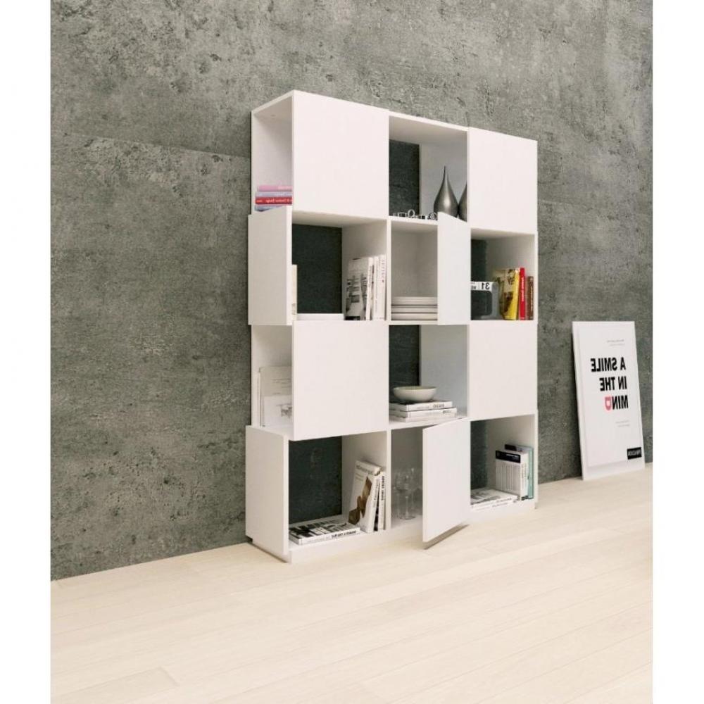 Biblioth ques tag res meubles et rangements temahome biblioth que design branch blanche 12 - Etagere a roulettes pour bibliotheque ...