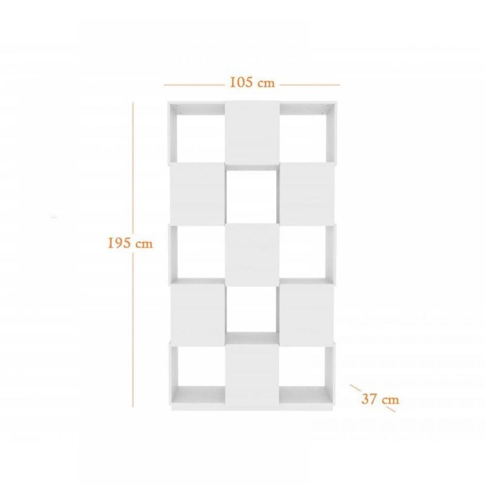 biblioth ques tag res meubles et rangements temahome biblioth que design branch blanche 12. Black Bedroom Furniture Sets. Home Design Ideas