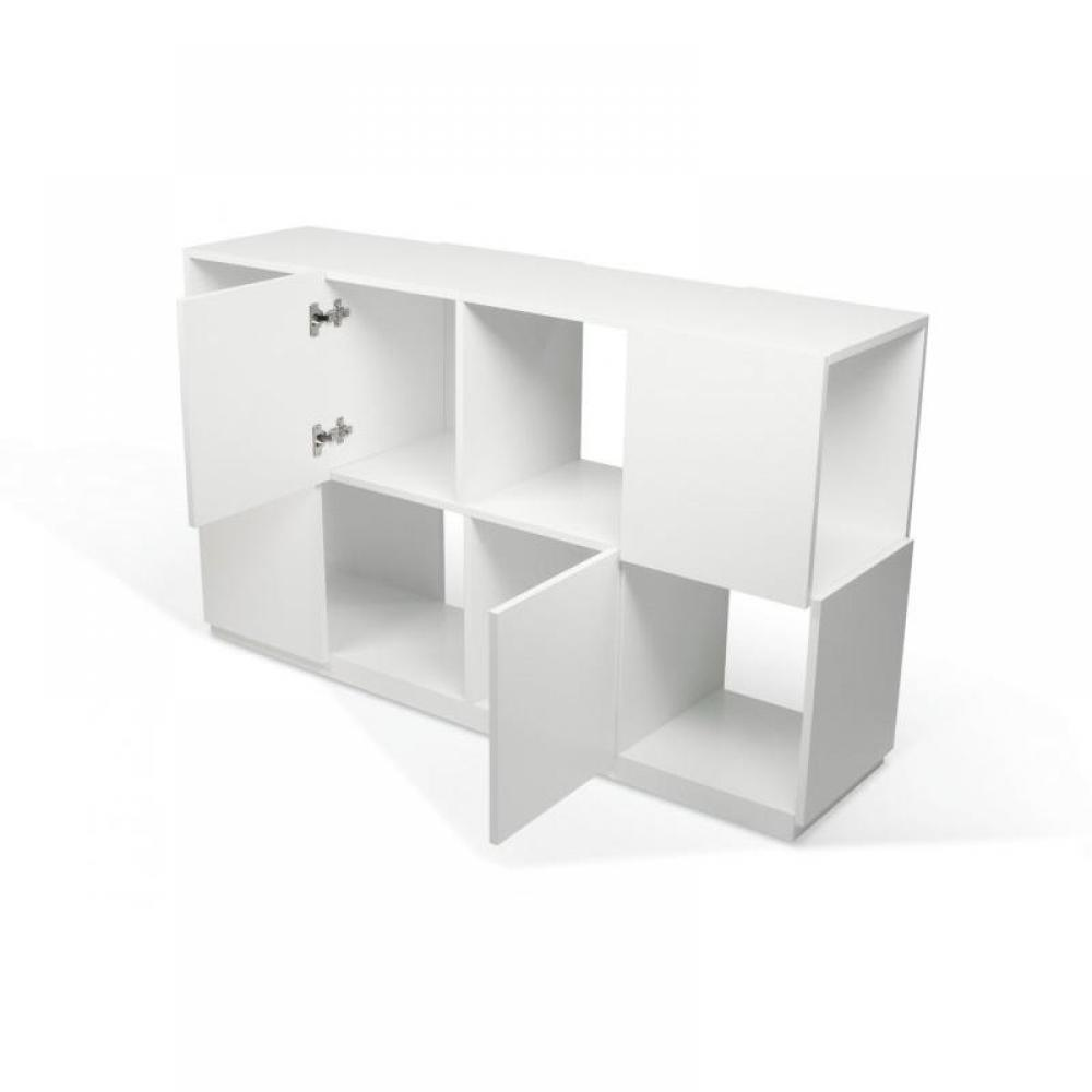 Biblioth ques tag res meubles et rangements temahome biblioth que design b - Bibliotheque blanche laquee ...