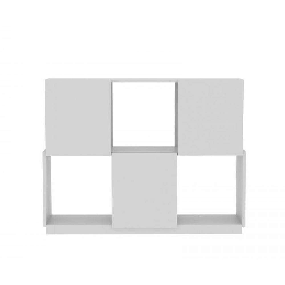 biblioth ques tag res meubles et rangements temahome biblioth que design branch blanche 6. Black Bedroom Furniture Sets. Home Design Ideas