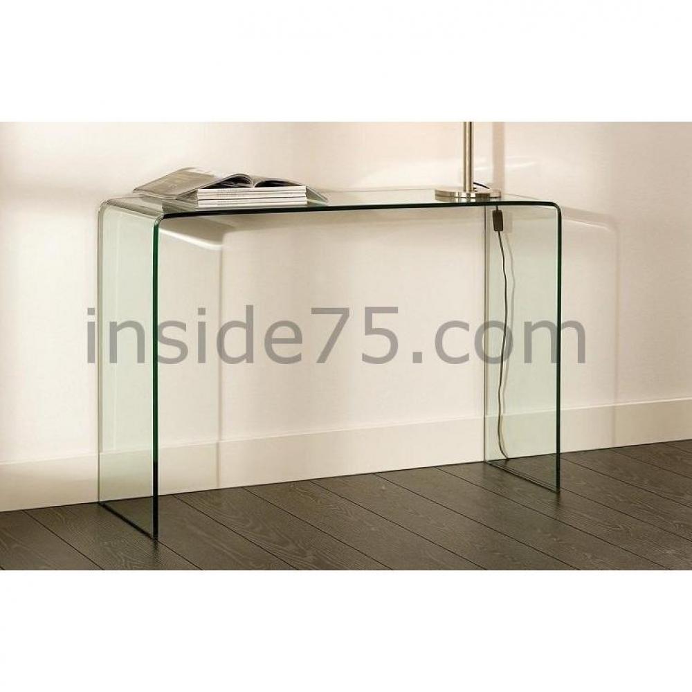 console design ultra tendance au meilleur prix bridge console fixe en verre tremp design. Black Bedroom Furniture Sets. Home Design Ideas
