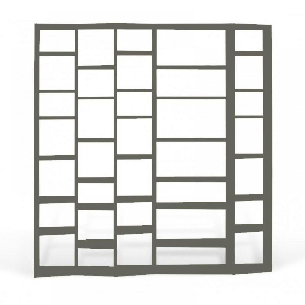 tag res de s paration meubles et rangements valsa 5 biblioth que tag re design grise mate. Black Bedroom Furniture Sets. Home Design Ideas