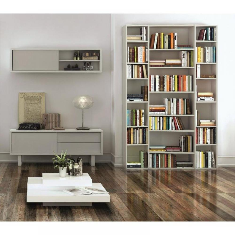 biblioth ques tag res meubles et rangements valsa 2 biblioth que design blanche inside75. Black Bedroom Furniture Sets. Home Design Ideas