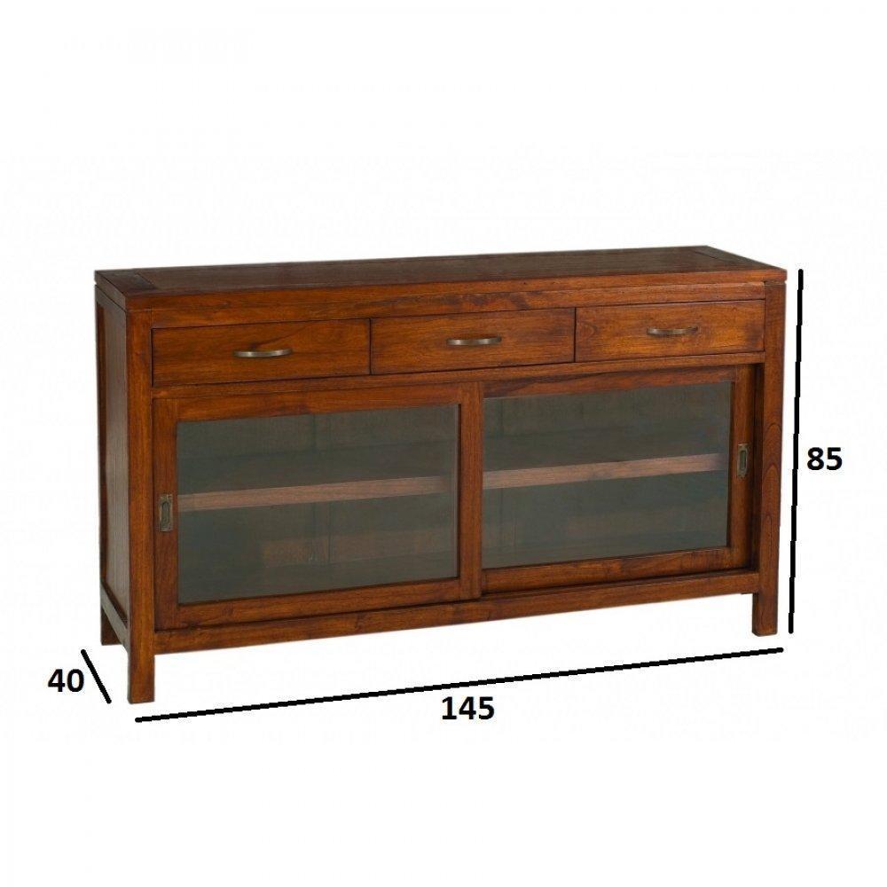 buffets bas meubles et rangements buffet bali 2 portes coulissantes 3 tiroirs en mindi style. Black Bedroom Furniture Sets. Home Design Ideas