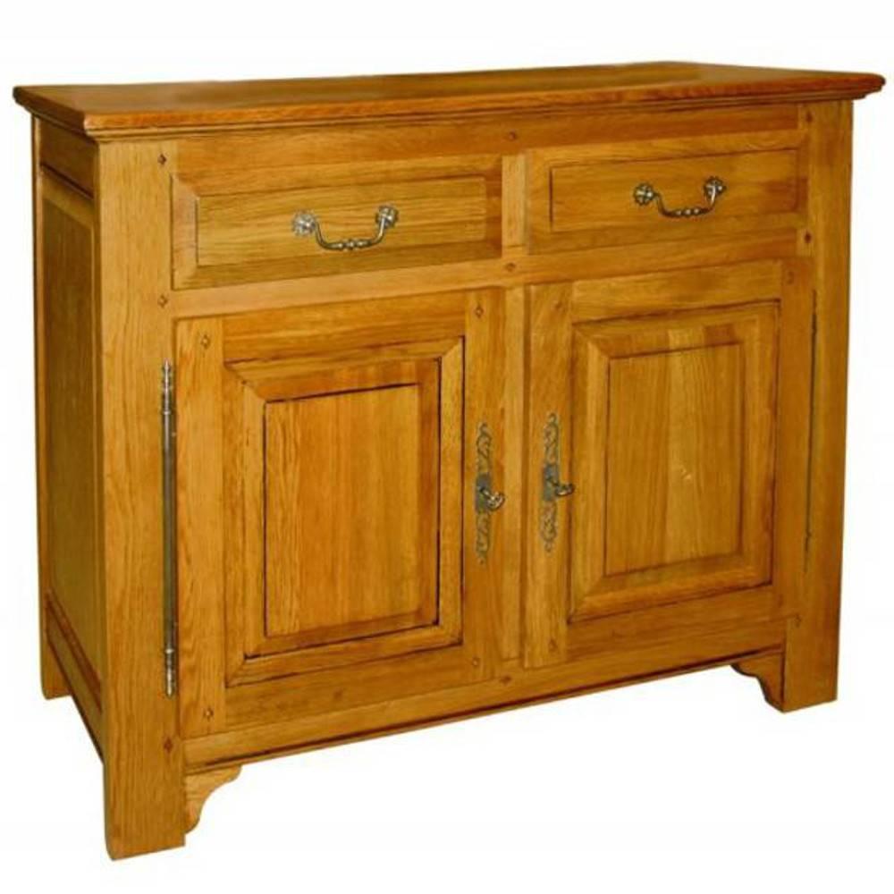 buffets meubles et rangements buffet bas clothaire en ch ne 2 portes et 2 tiroirs de style. Black Bedroom Furniture Sets. Home Design Ideas