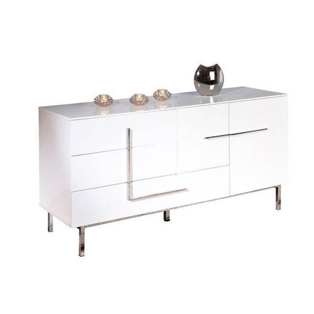 Buffets meubles et rangements buffet bas design deltino for Meuble 3 portes 2 tiroirs