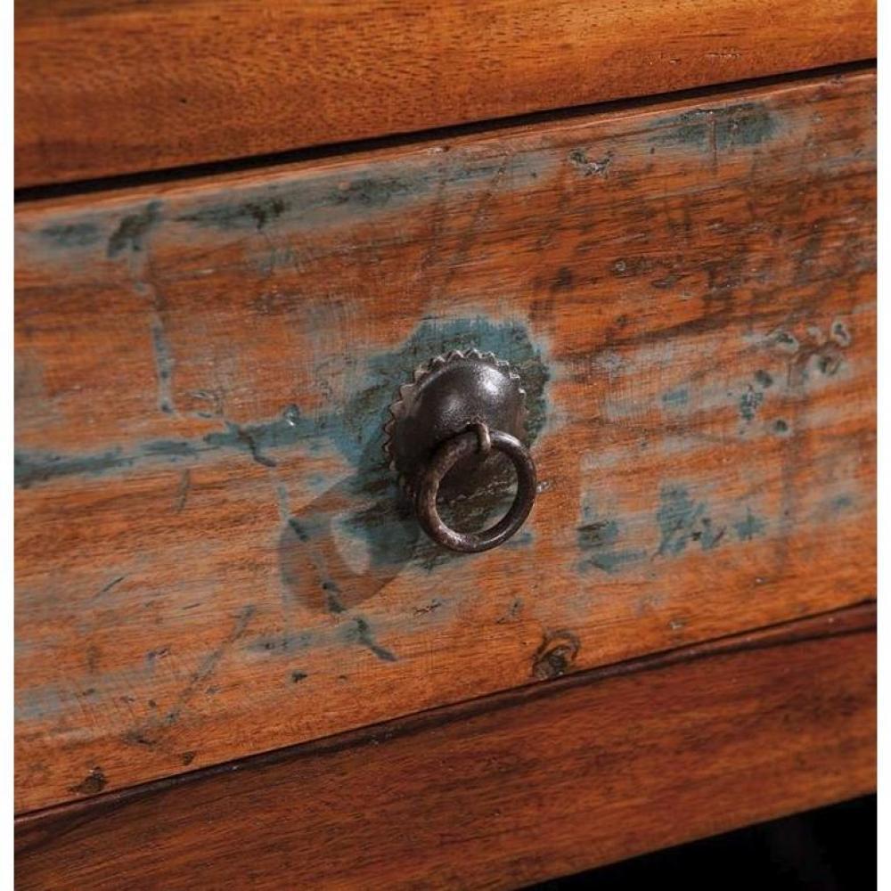 Buffet bas design FAROL en bois de manguier recyclée