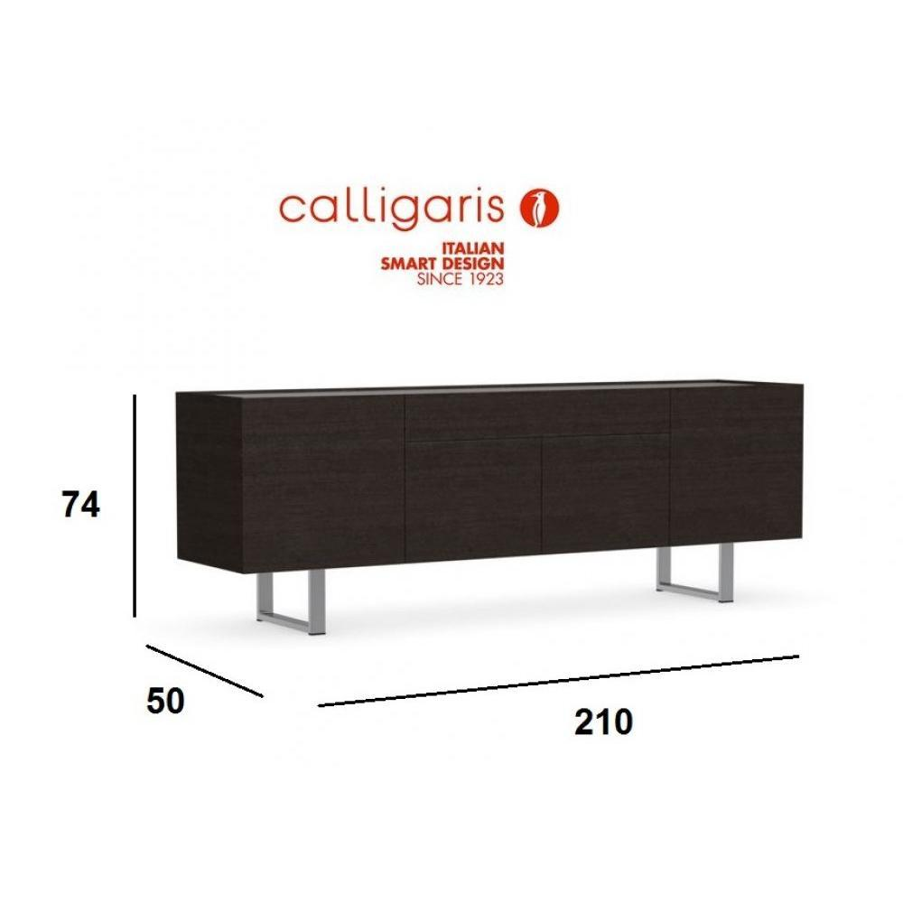 buffets bas meubles et rangements calligaris buffet bas design horizon weng plateau verre. Black Bedroom Furniture Sets. Home Design Ideas