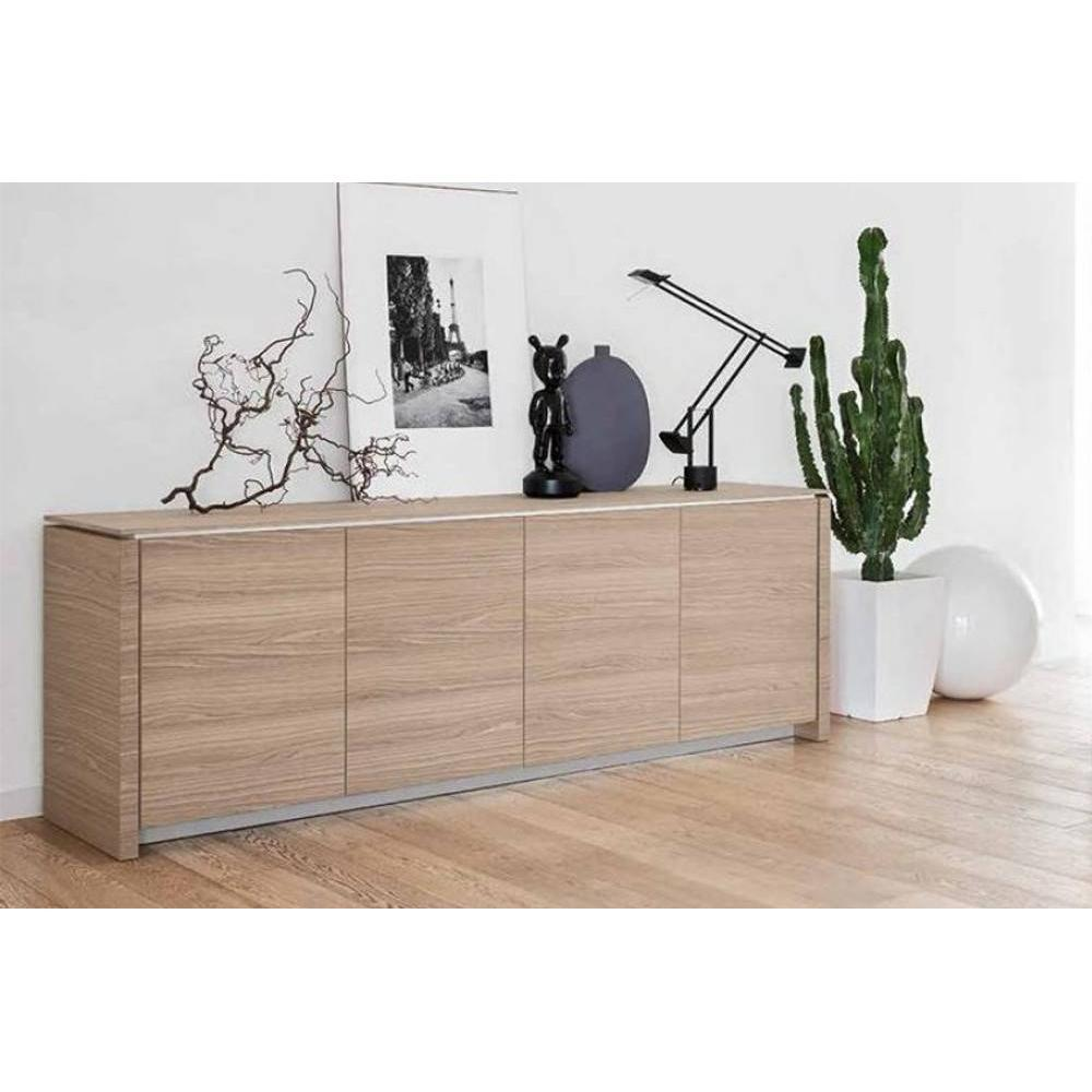 buffets meubles et rangements calligaris buffet bas mag wood en bois naturel 4 portes inside75. Black Bedroom Furniture Sets. Home Design Ideas