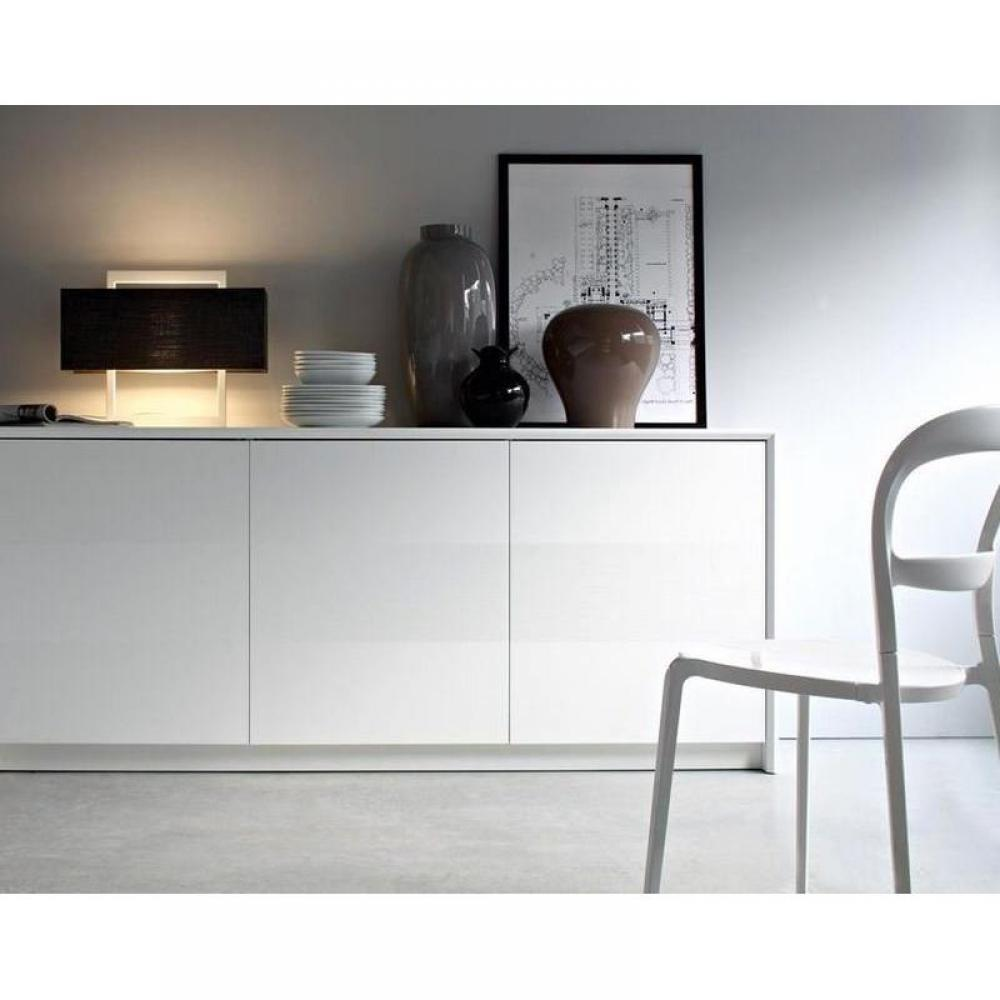 buffets bas meubles et rangements buffet bas password blanc 4 portes inside75. Black Bedroom Furniture Sets. Home Design Ideas