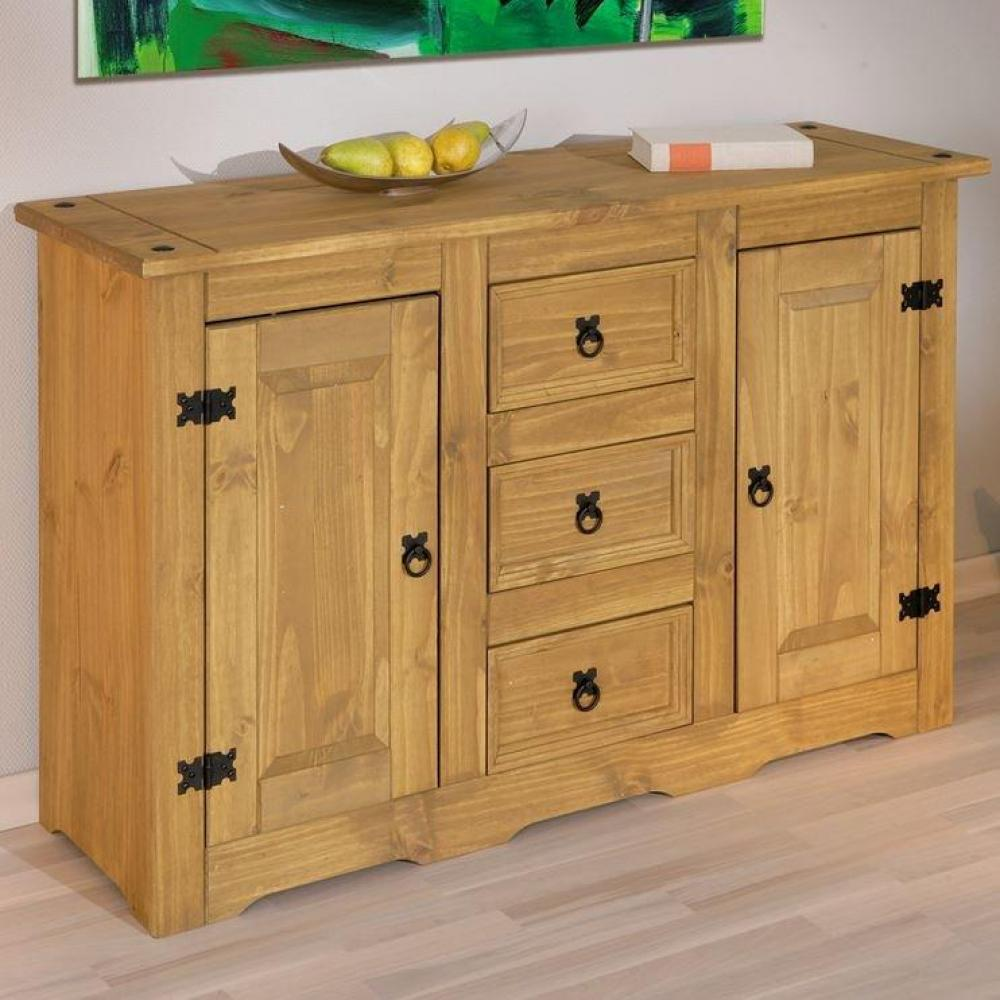 buffets meubles et rangements buffet rustique mex en pin. Black Bedroom Furniture Sets. Home Design Ideas