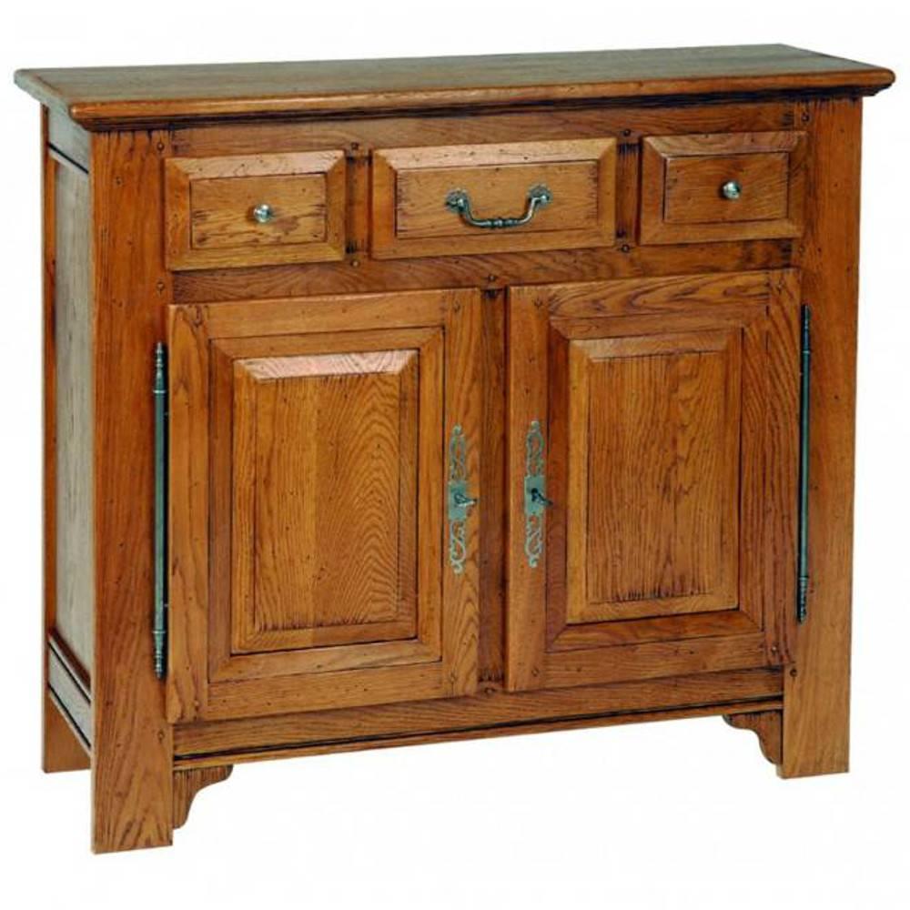 buffets bas meubles et rangements buffet bas sidonie en ch ne 2 portes et 3 tiroirs de style. Black Bedroom Furniture Sets. Home Design Ideas
