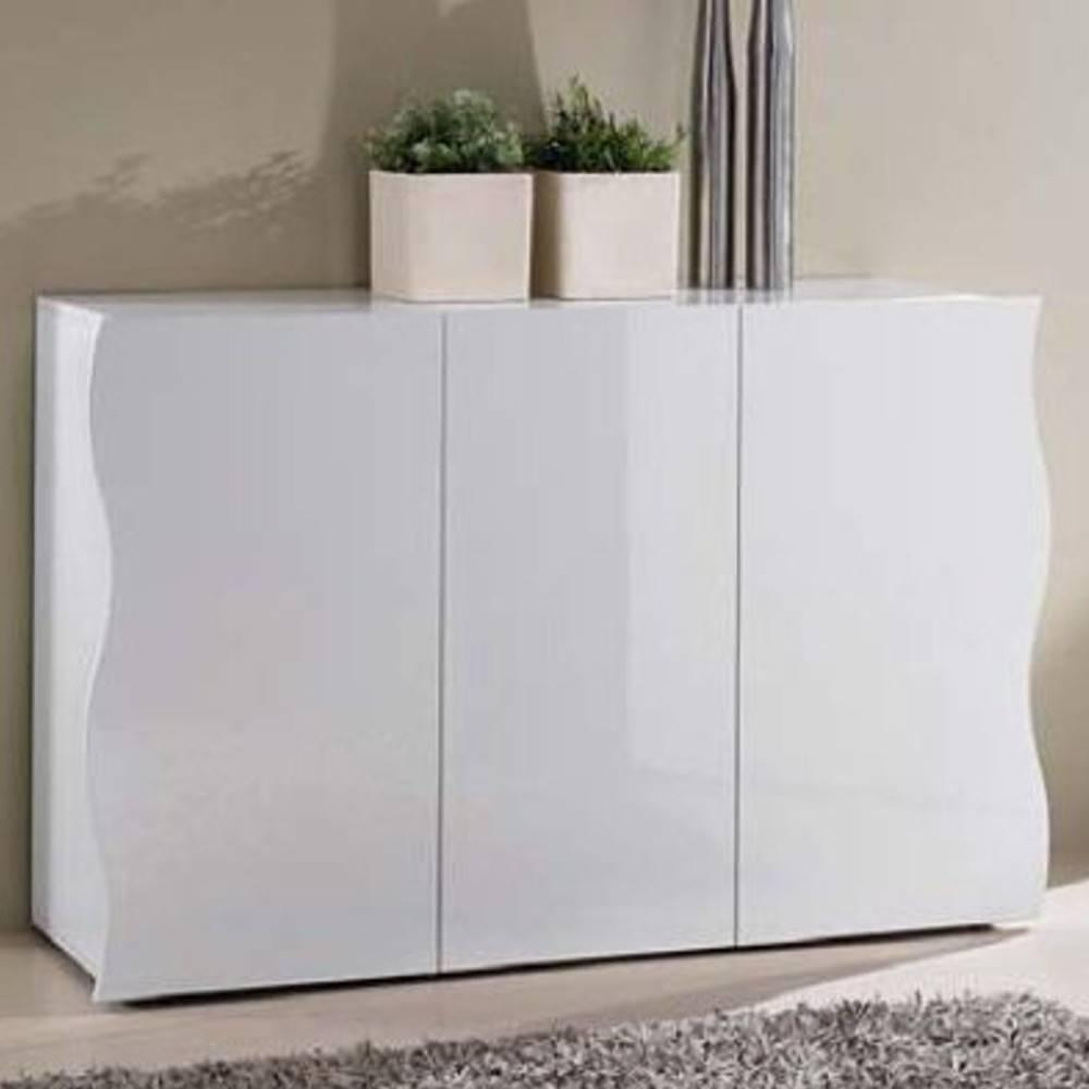 buffets meubles et rangements buffet vague blanc 3 portes inside75. Black Bedroom Furniture Sets. Home Design Ideas