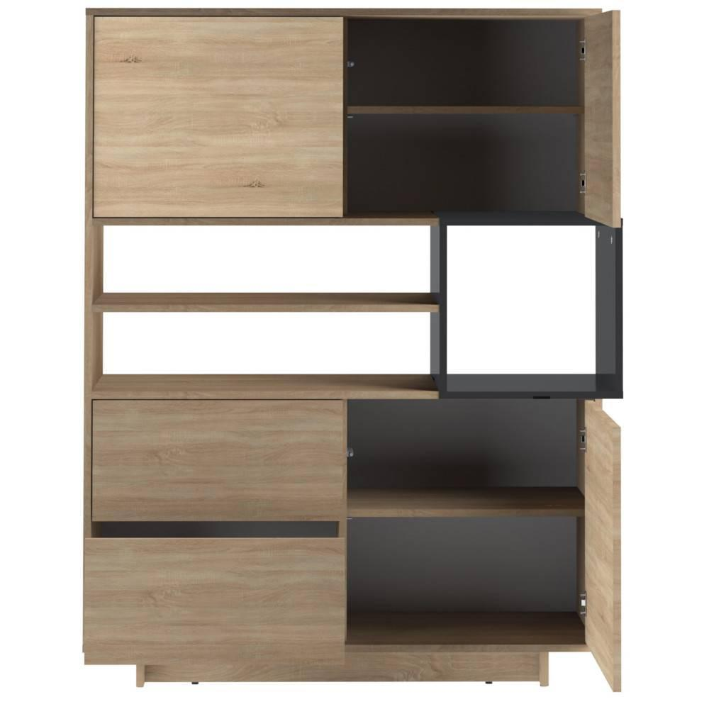 buffets meubles et rangements buffet design scandinave dainn 3 portes 2 tiroirs ch ne naturel. Black Bedroom Furniture Sets. Home Design Ideas