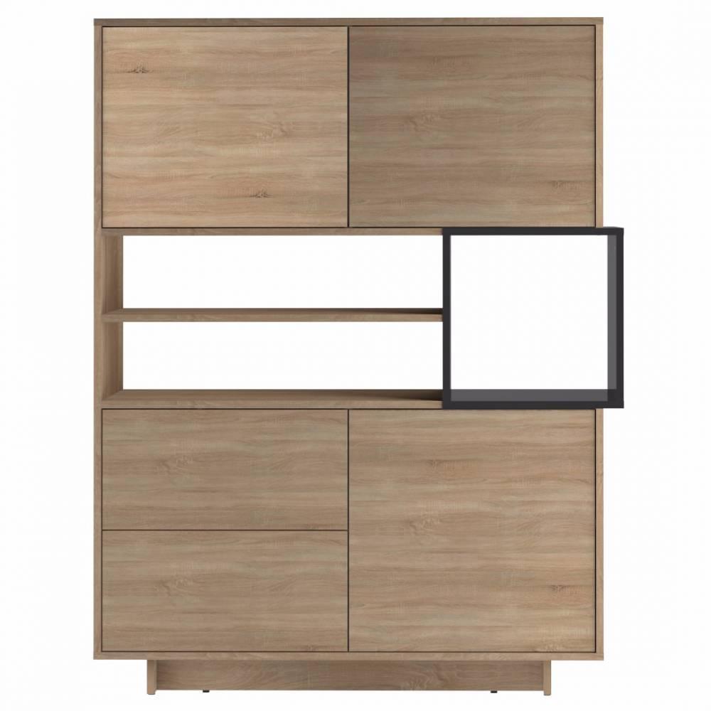 buffets meubles et rangements buffet design scandinave dainn 3 portes 2 tiroirs ch ne naturel. Black Bedroom Furniture Sets. Home Design Ideas
