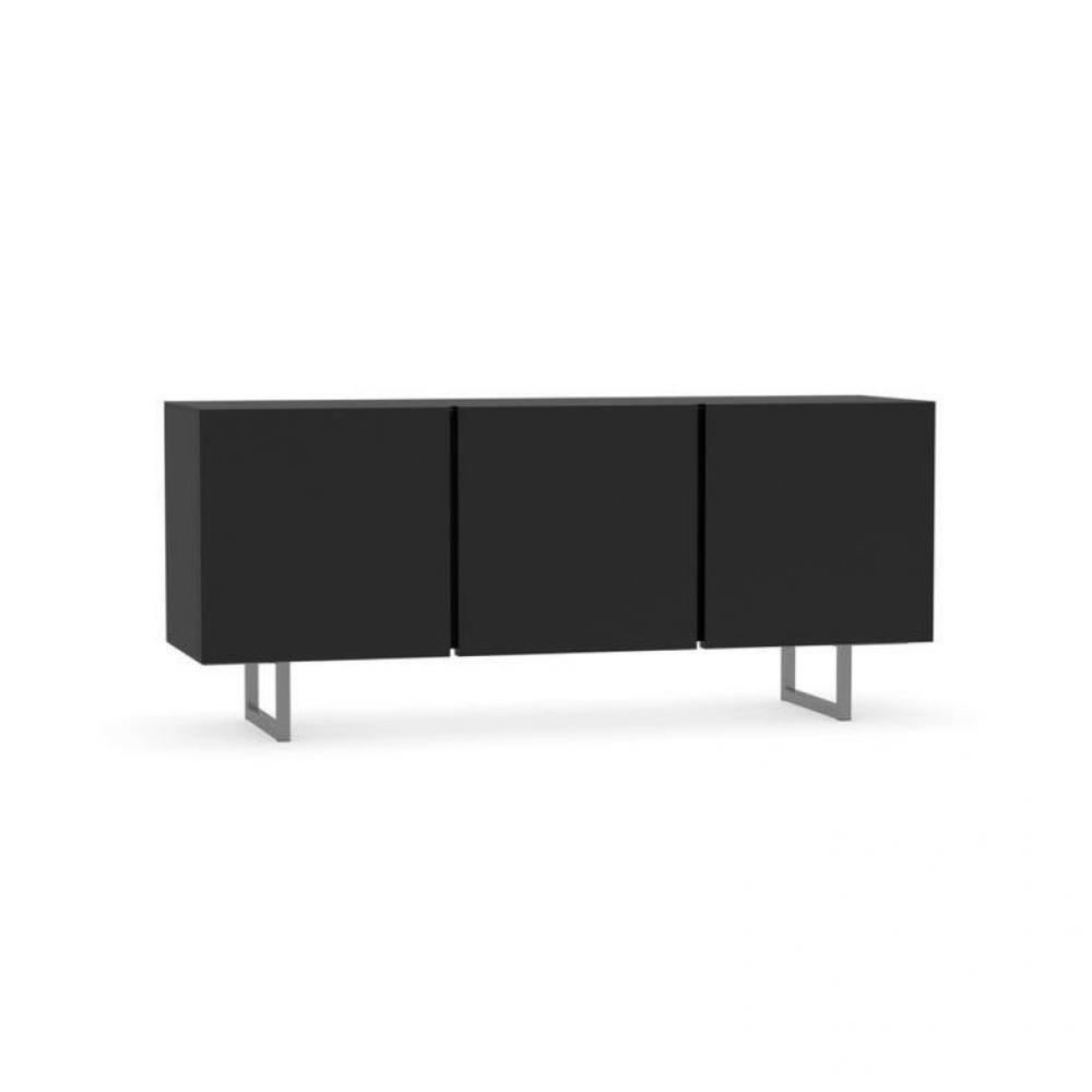 buffets meubles et rangements buffet bas design seattle noir brillant 3 portes de calligaris. Black Bedroom Furniture Sets. Home Design Ideas