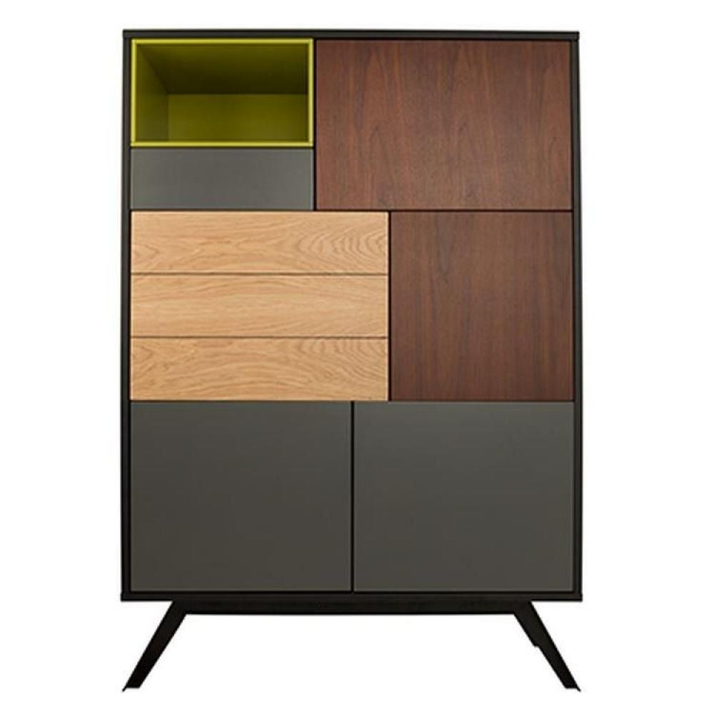 buffets meubles et rangements buffet alps vert 5 portes 1 tiroir inside75. Black Bedroom Furniture Sets. Home Design Ideas