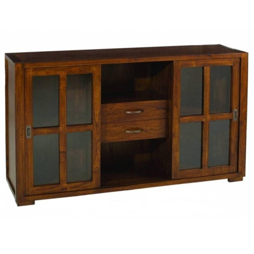 Buffets bas meubles et rangements buffet bali 2 portes 3 tiroirs en teck st - Buffet style colonial ...