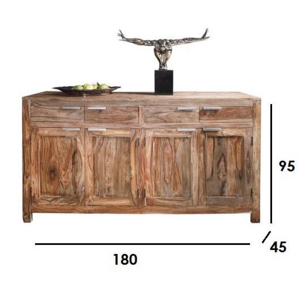Bahut WOOD en bois massif 4 portes et 4 tiroirs