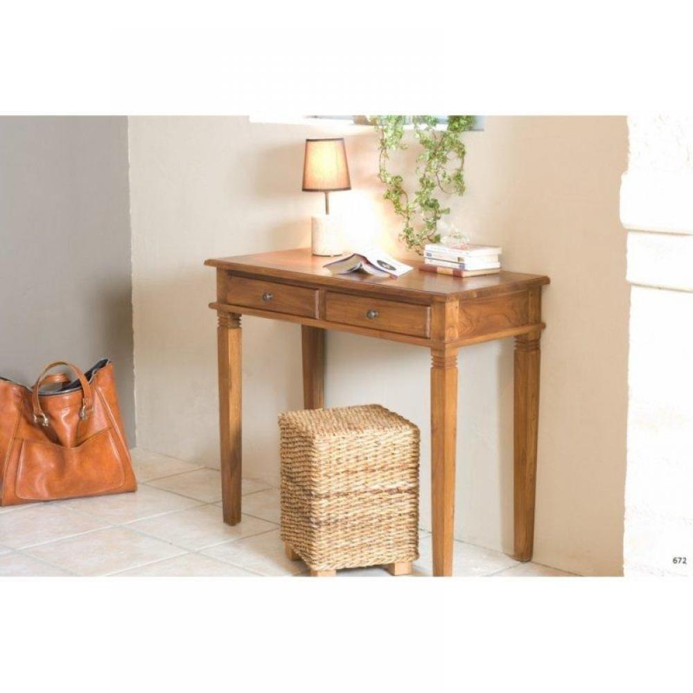 Bureaux meubles et rangements bureau 2 tiroirs style for Meuble bureau 2 tiroirs