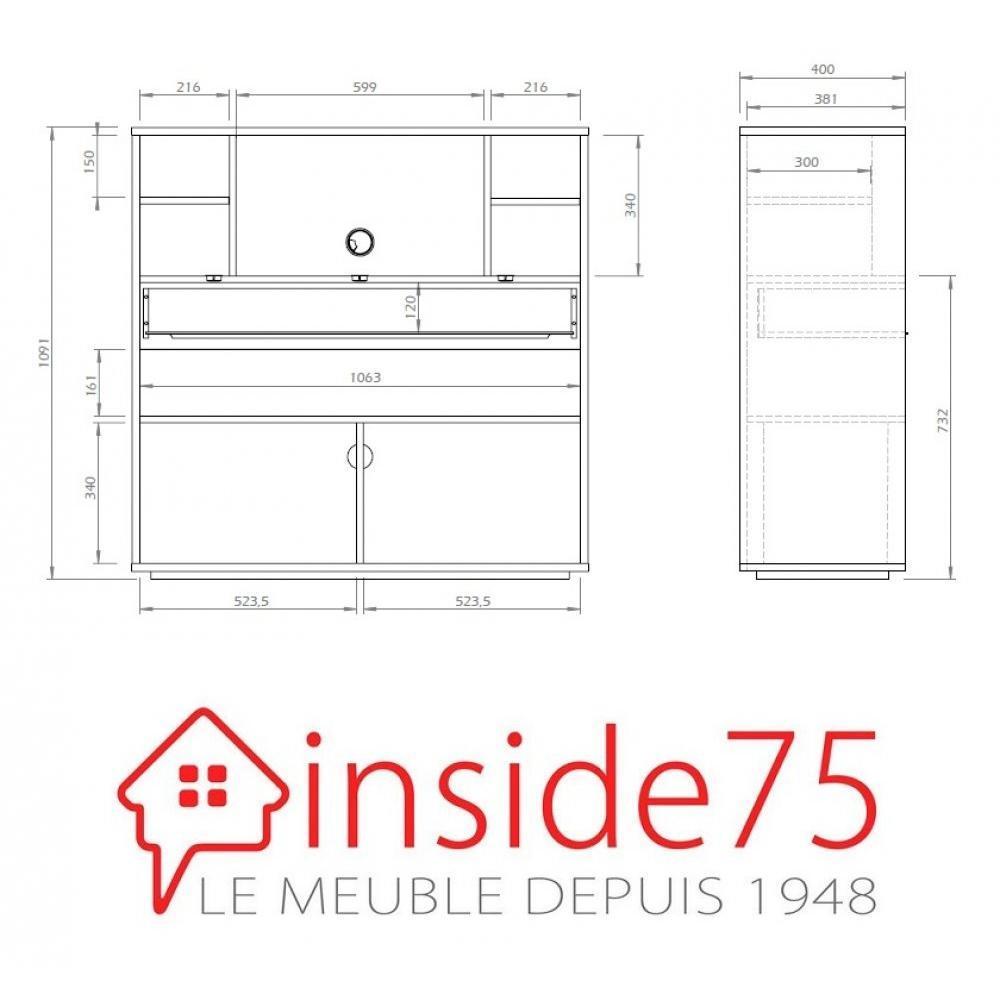 bureaux meubles et rangements bureau compact focus blanc de temahome inside75