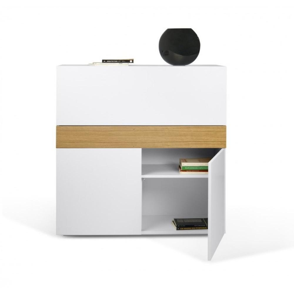 bureaux meubles et rangements bureau compact focus blanc de temahome inside75. Black Bedroom Furniture Sets. Home Design Ideas