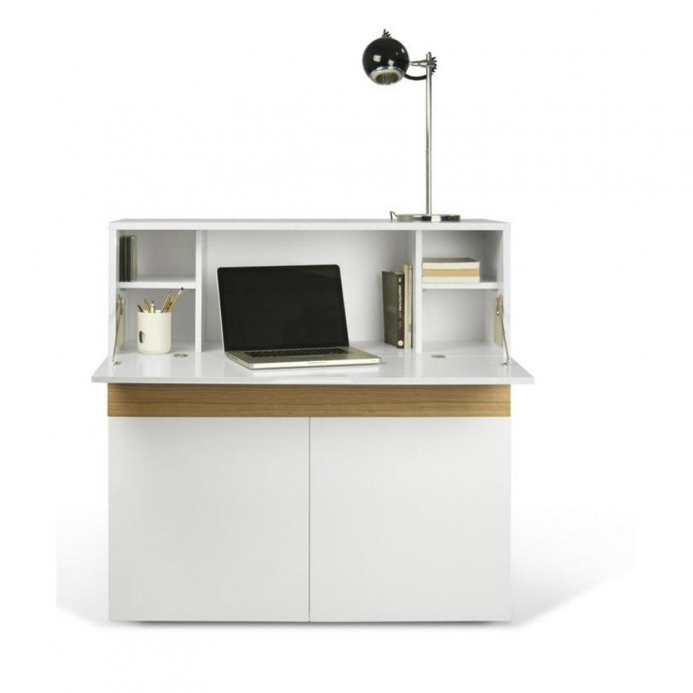 bureaux meubles et rangements bureau compact focus blanc
