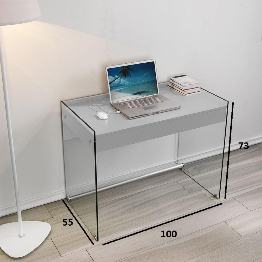Bureaux tables et chaises bureau tokio 1 tiroir gris - Bureau gris taupe ...