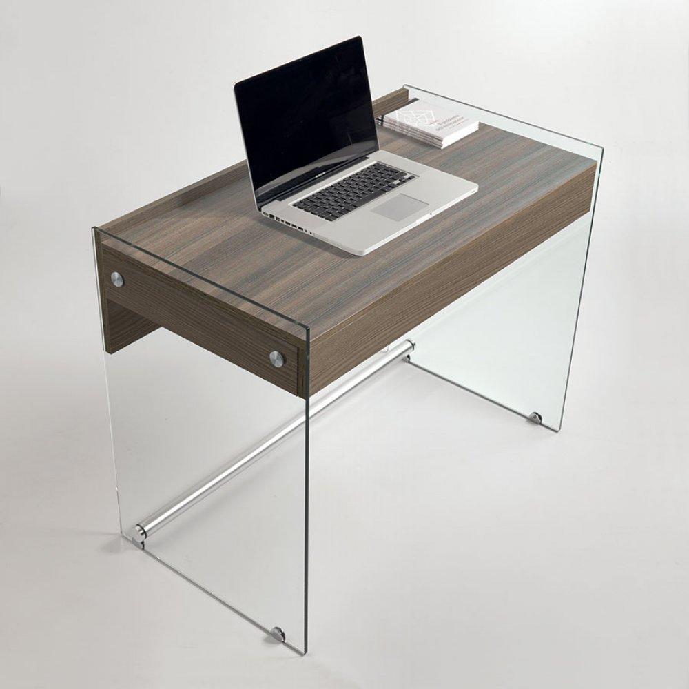 Bureaux meubles et rangements bureau tokio 1 tiroir for Meuble bureau en verre