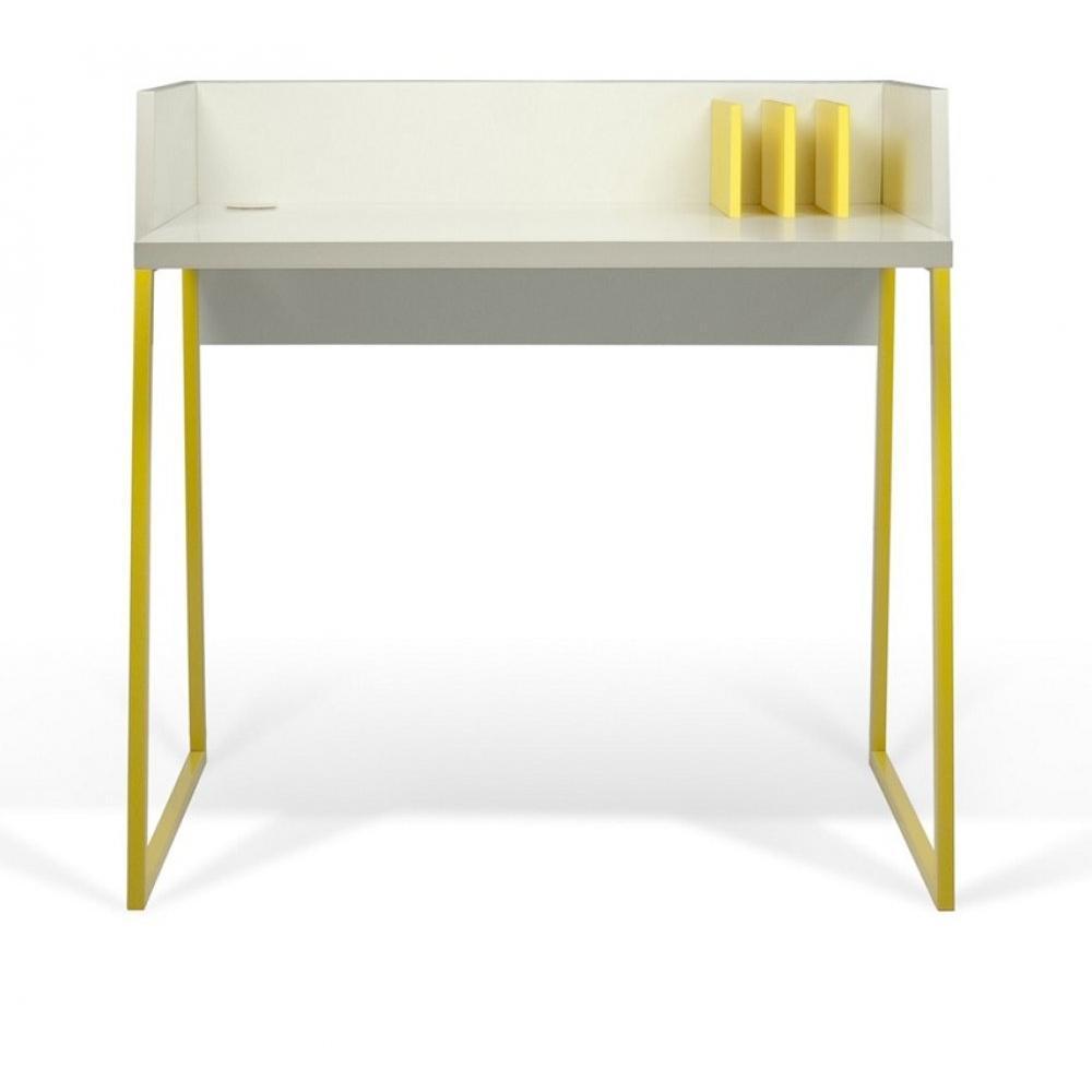 Bureaux meubles et rangements bureau design temahome for Bureau jaune