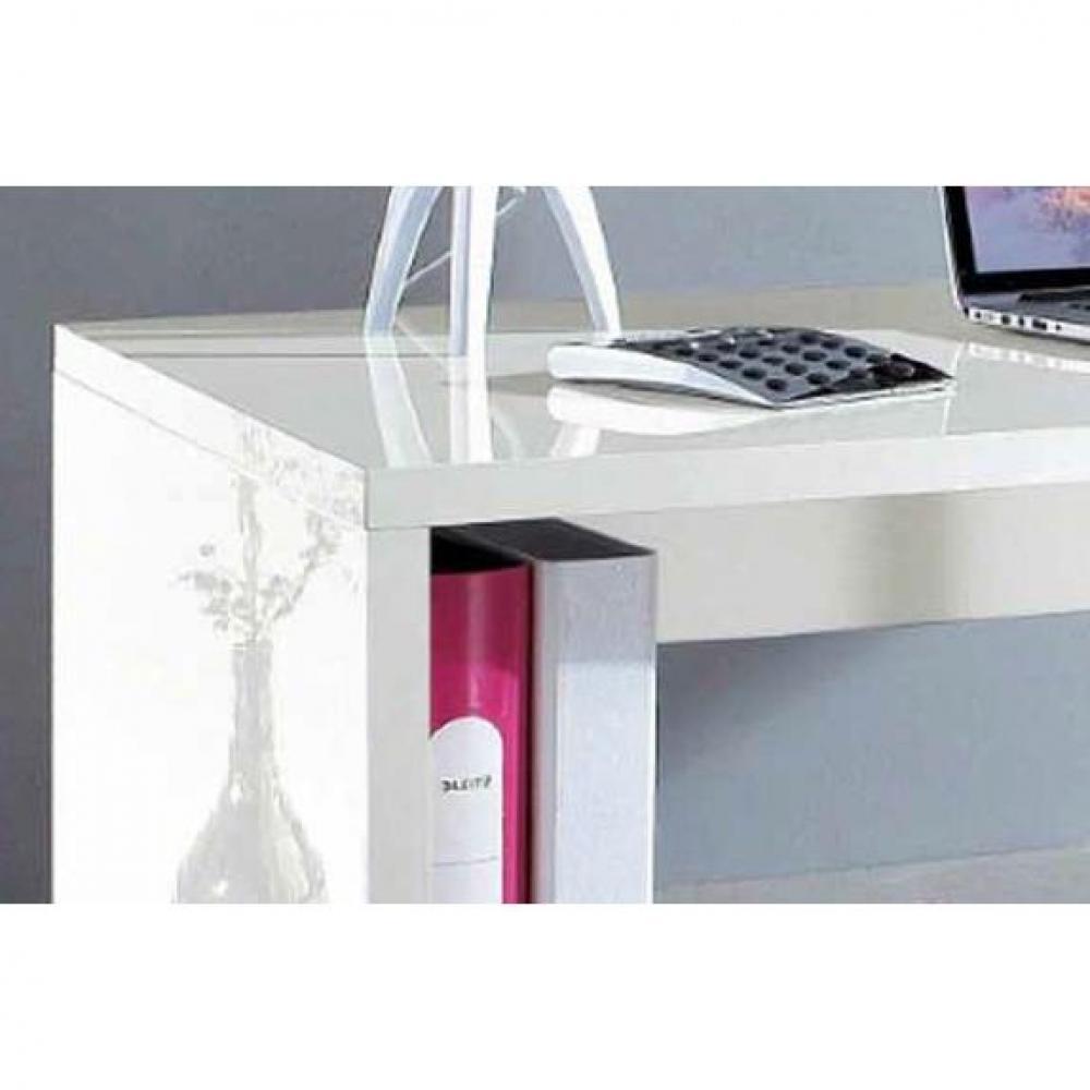 Bureaux meubles et rangements bureau esse scrivania for Grand bureau blanc laque
