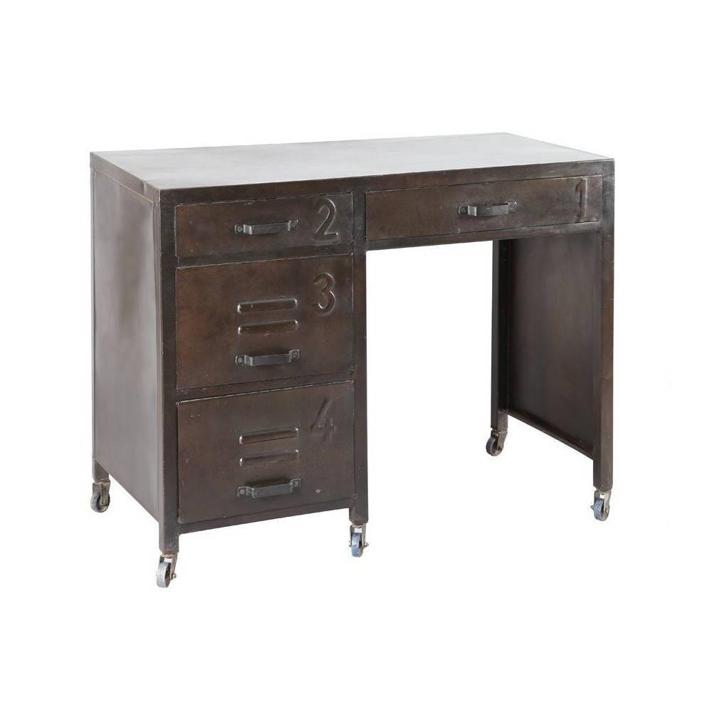 bureaux meubles et rangements bureau ferro en acier avec. Black Bedroom Furniture Sets. Home Design Ideas