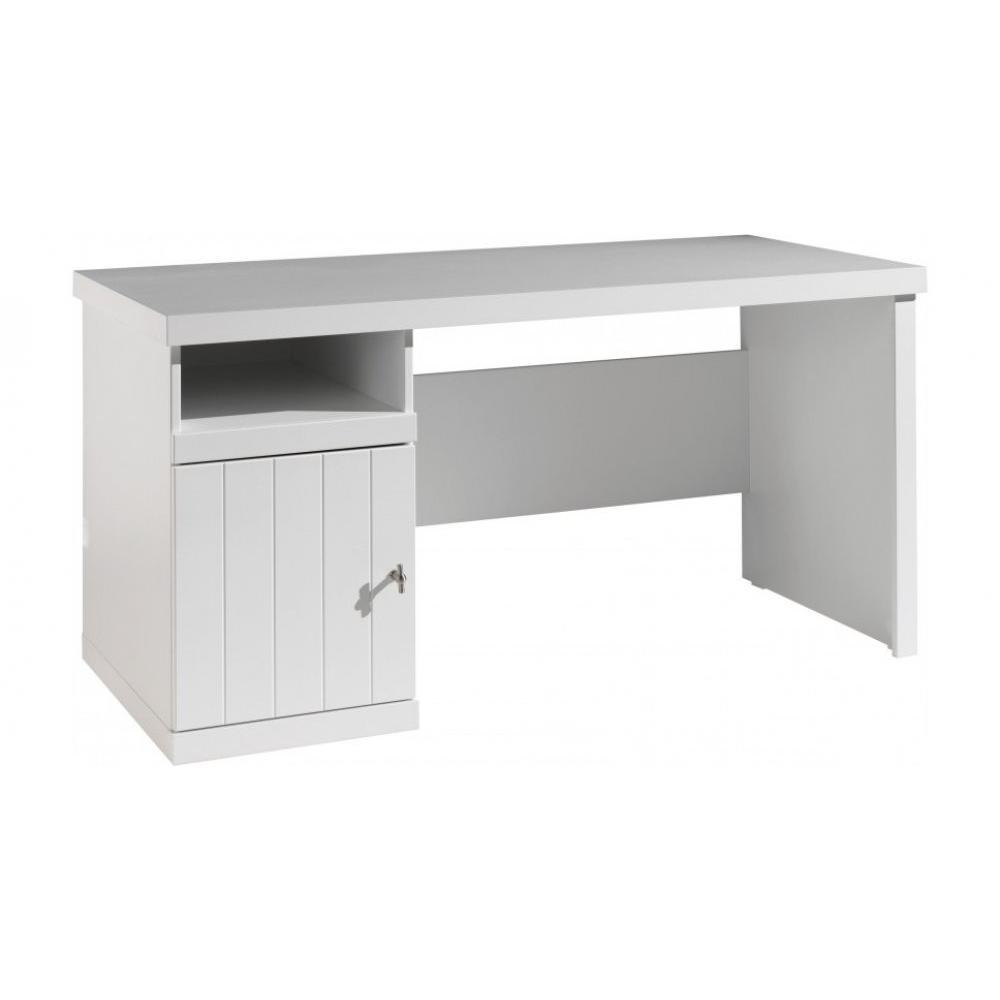 bureaux meubles et rangements bureau hydrus design laque blanc inside75. Black Bedroom Furniture Sets. Home Design Ideas