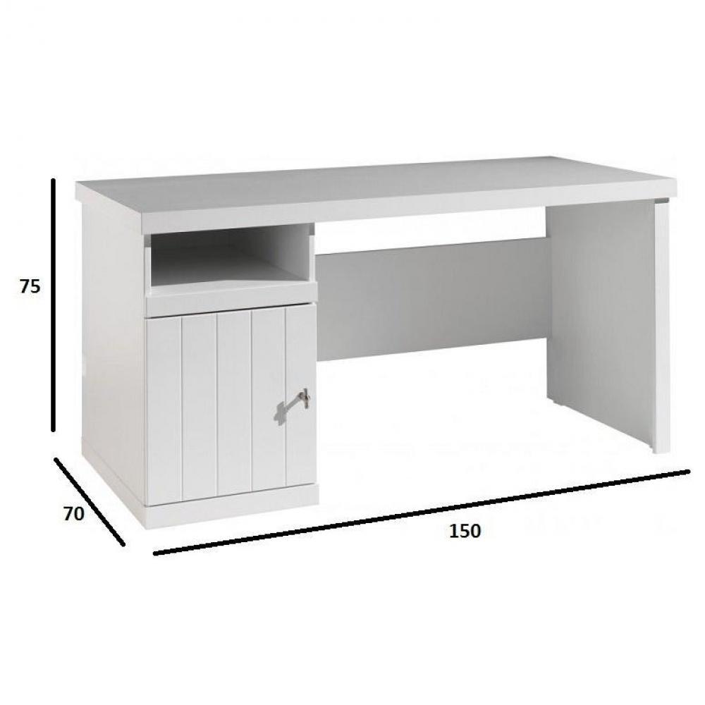meuble de bureau au meilleur prix bureau hydrus design laque blanc inside75. Black Bedroom Furniture Sets. Home Design Ideas