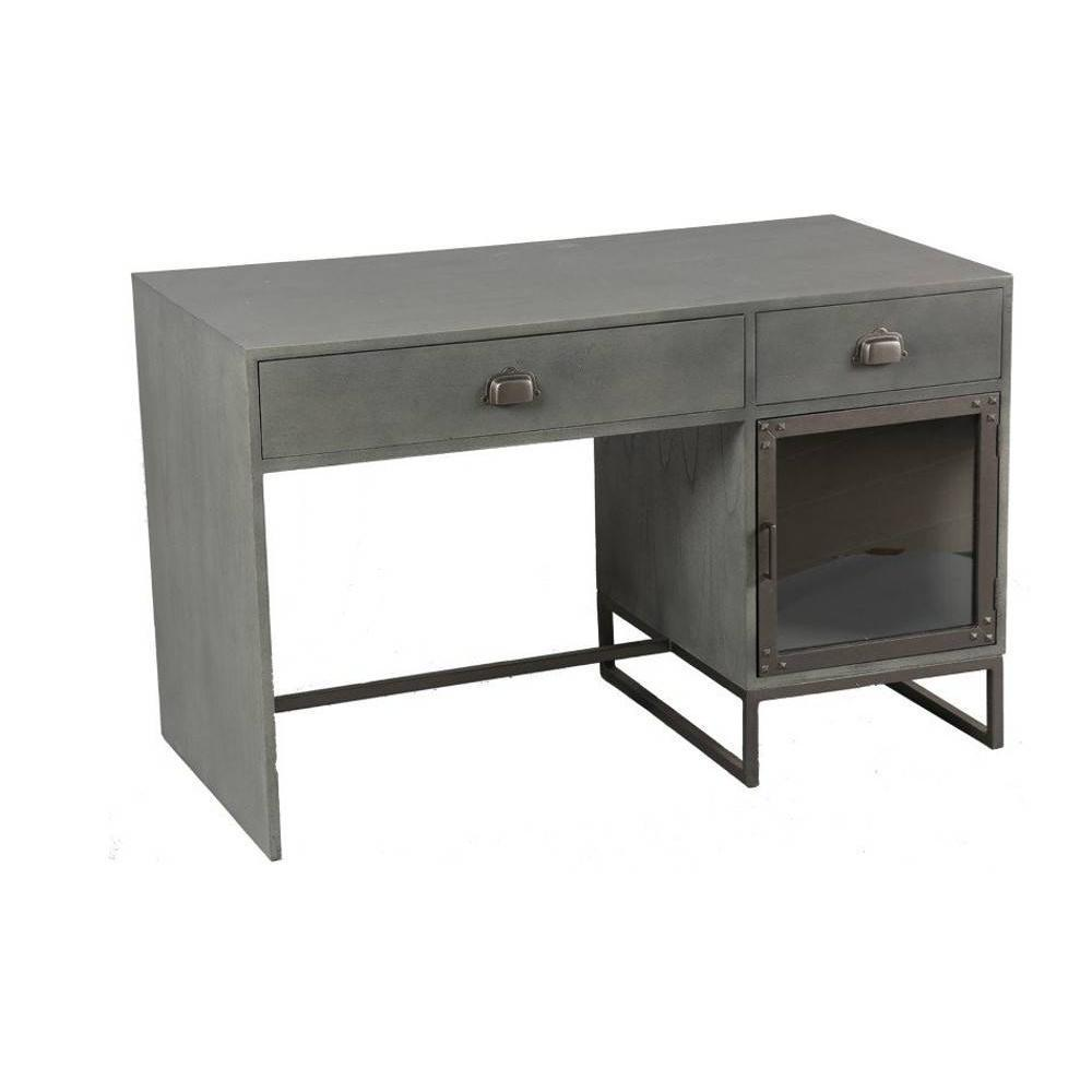 bureau metal gris gallery of bureau mtal vintage gris u. Black Bedroom Furniture Sets. Home Design Ideas
