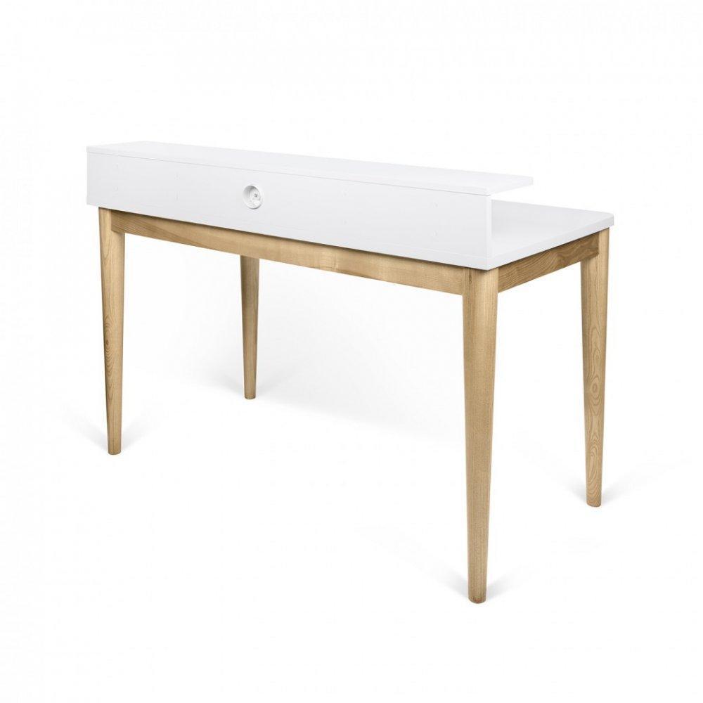 bureaux meubles et rangements bureau xira ch ne avec plateau blanc inside75. Black Bedroom Furniture Sets. Home Design Ideas