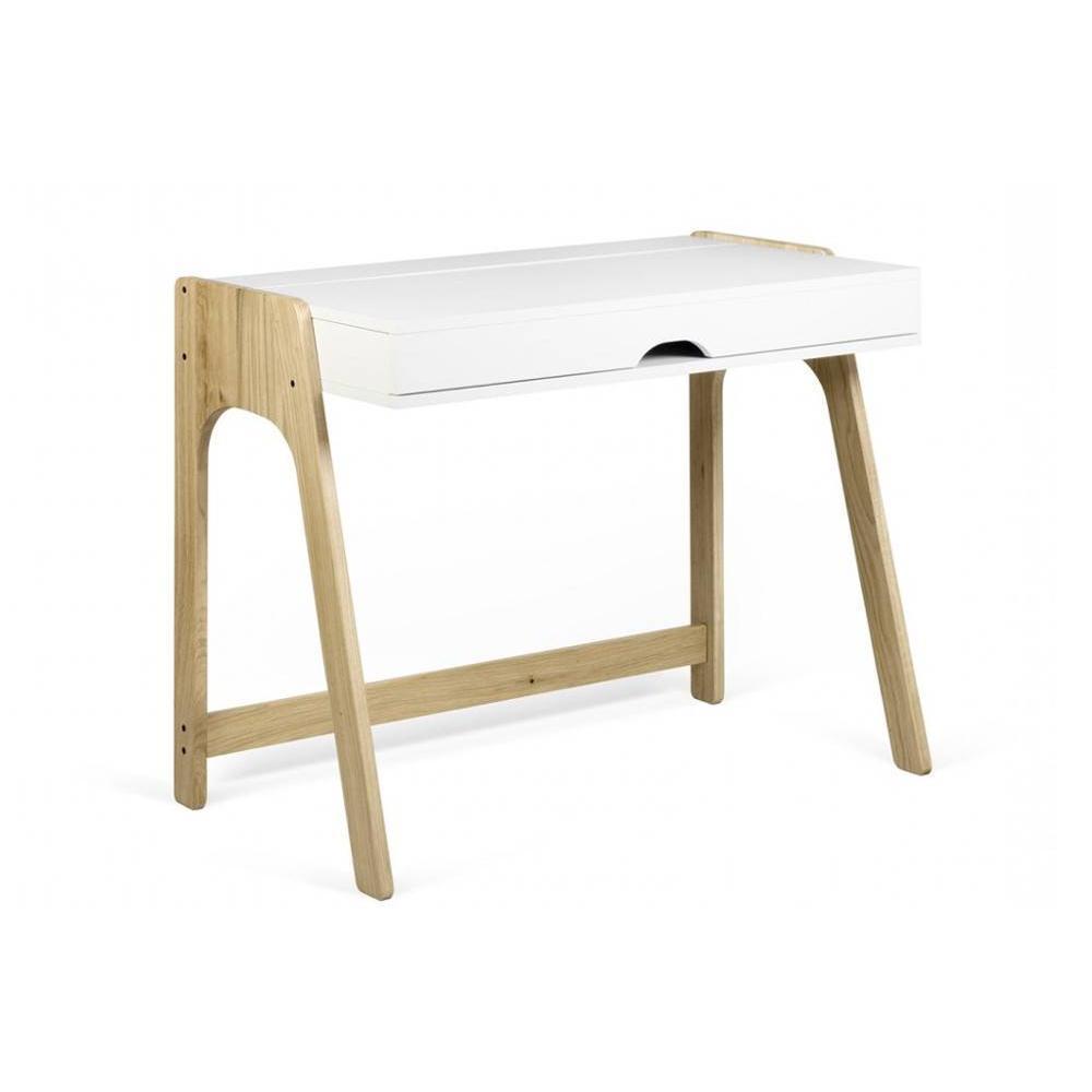 Bureaux meubles et rangements bureau secretaire natacha scandinave blanc mat 94 x 53 pied - Bureau secretaire enfant ...
