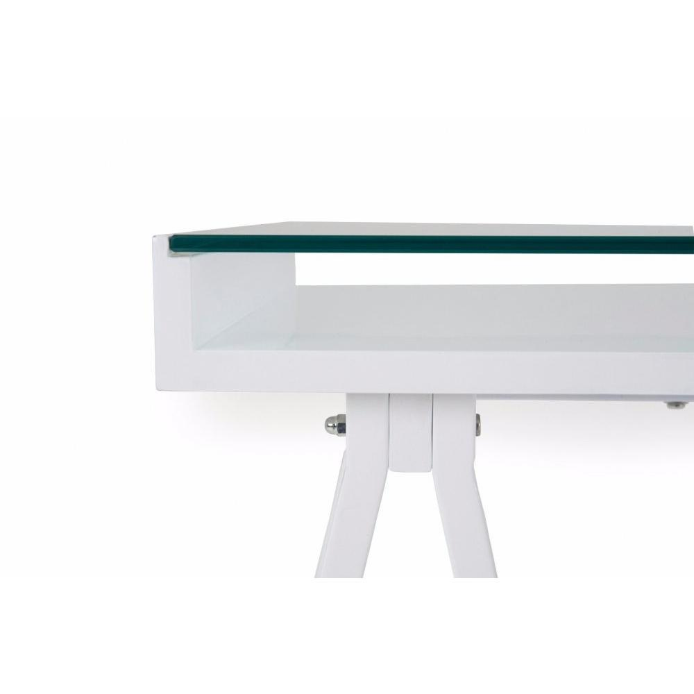 Bureaux meubles et rangements bureau study blanc for Meuble bureau en verre
