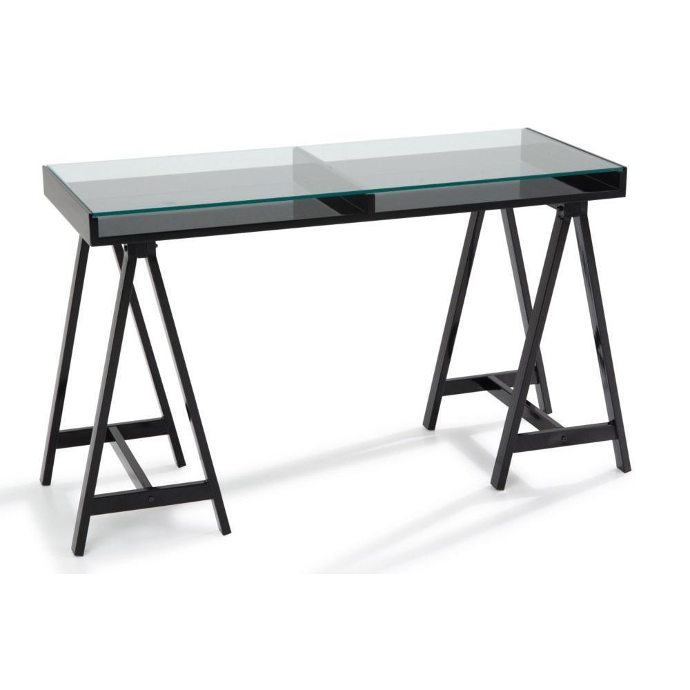bureaux meubles et rangements bureau study noir plateaux. Black Bedroom Furniture Sets. Home Design Ideas