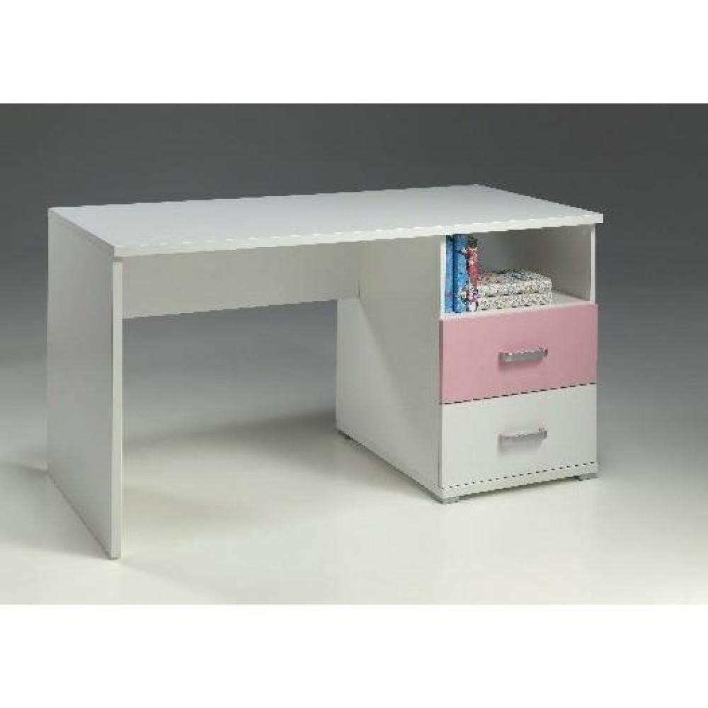 Bureaux meubles et rangements bureau valentine tiroirs blanc